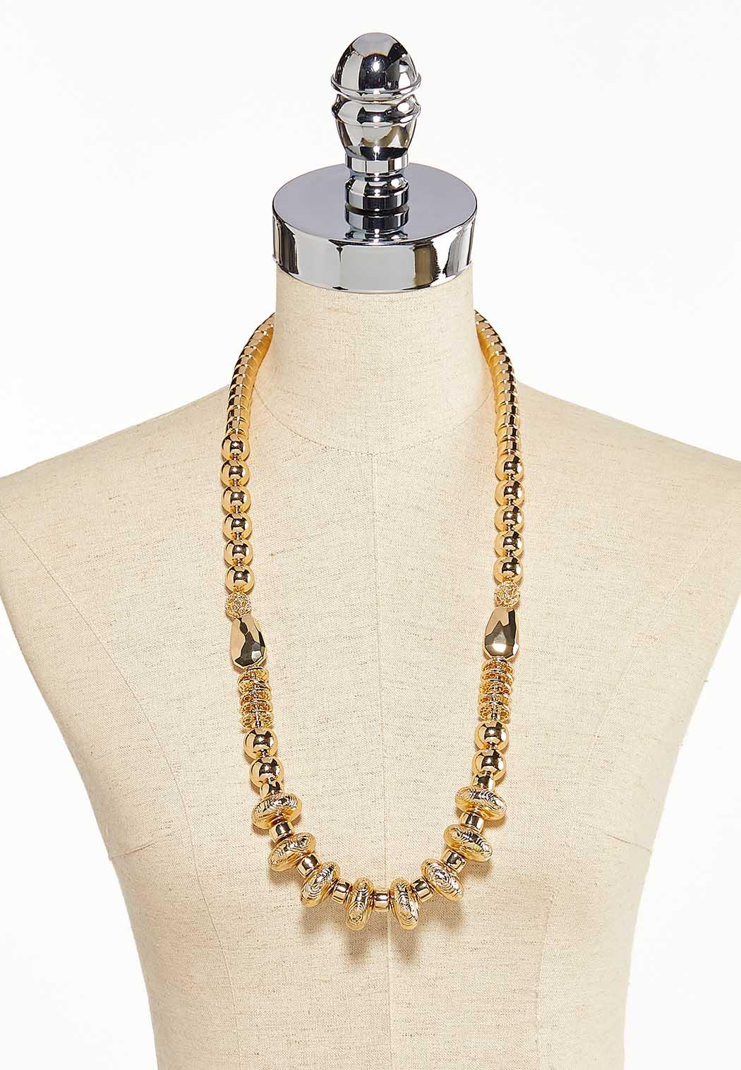 Gold Bead Long Necklace (Item #44217923)