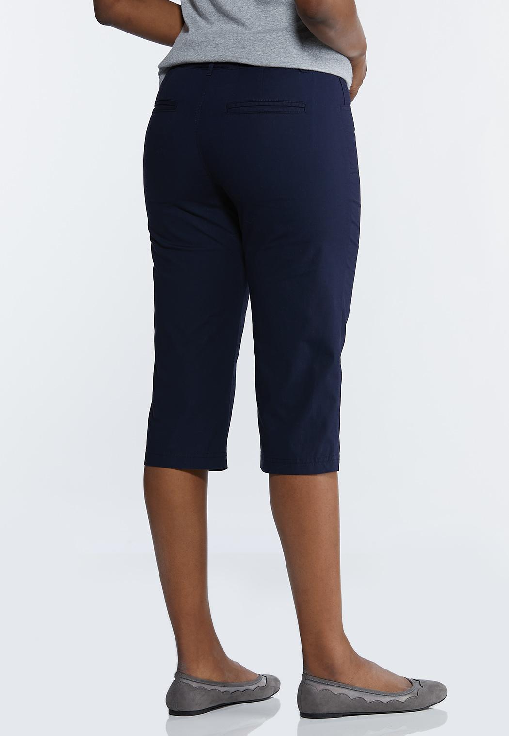 Cropped Poplin Utility Pants (Item #44218416)