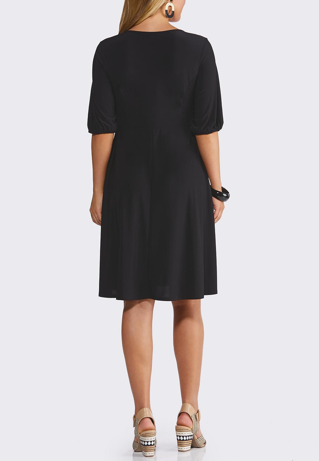 Twisted V-Neck Dress (Item #44219478)
