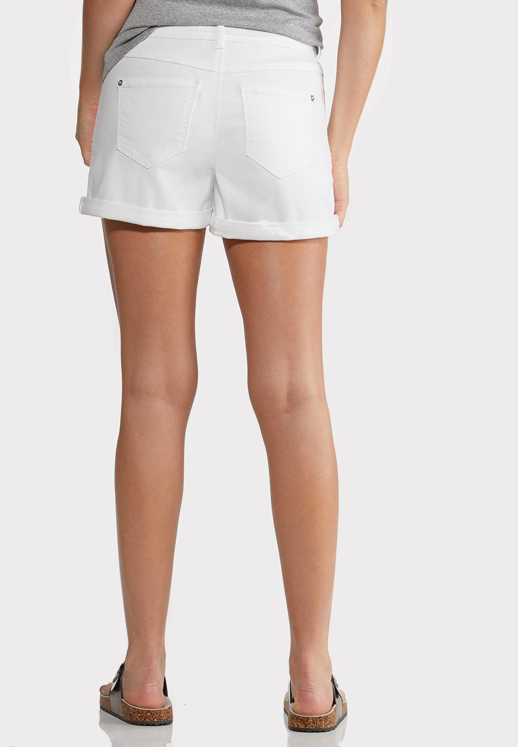 White Denim Shorts (Item #44222476)