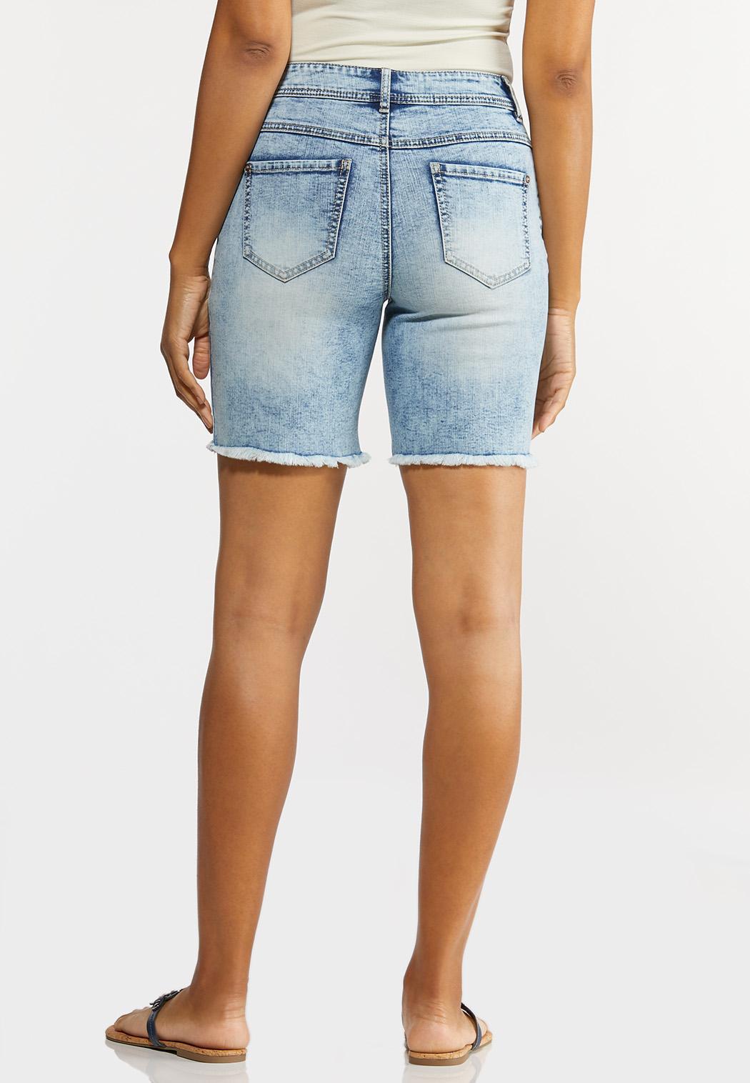 Acid Wash Jean Shorts (Item #44222593)