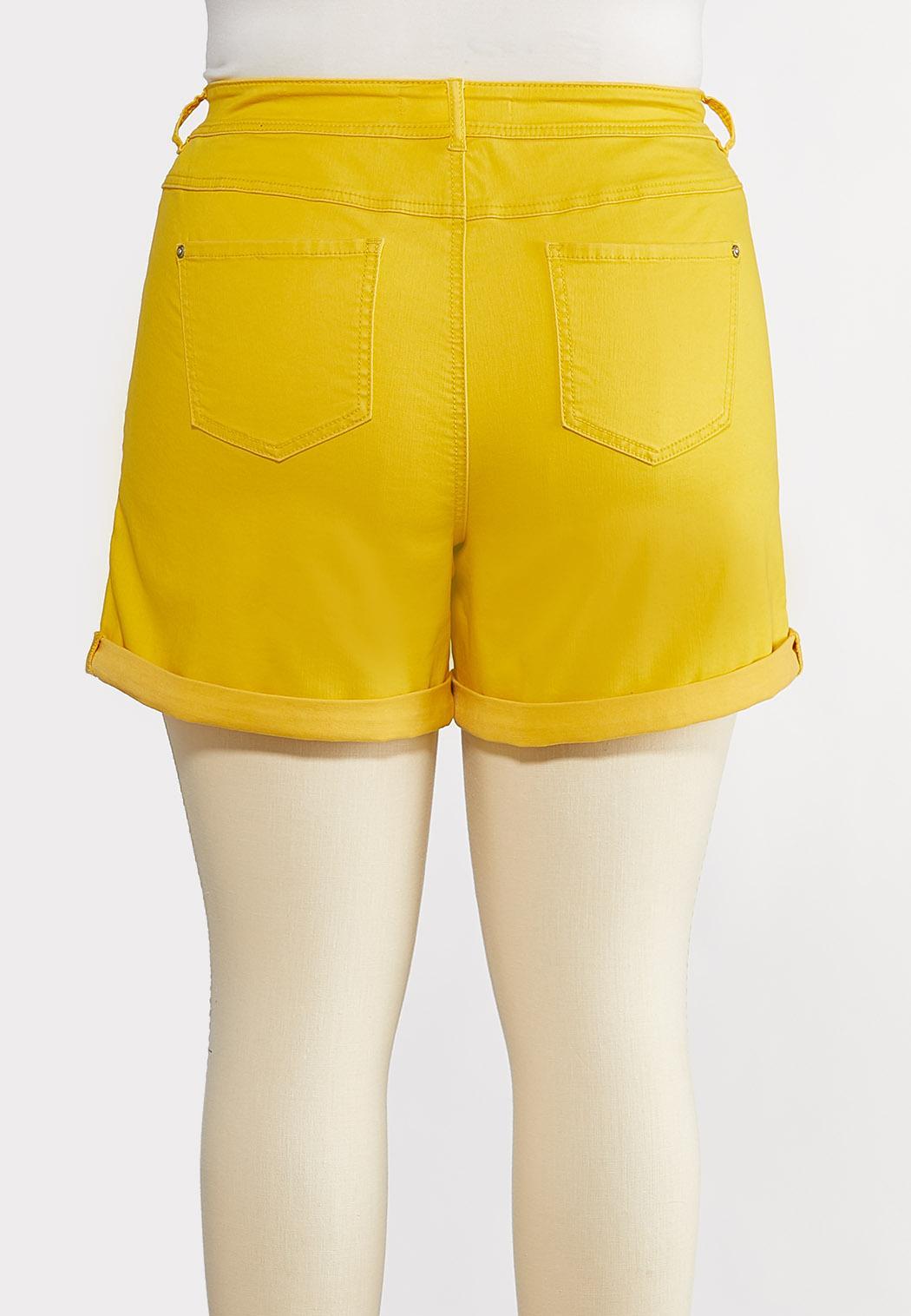 Plus Size Colored Denim Shorts (Item #44222790)