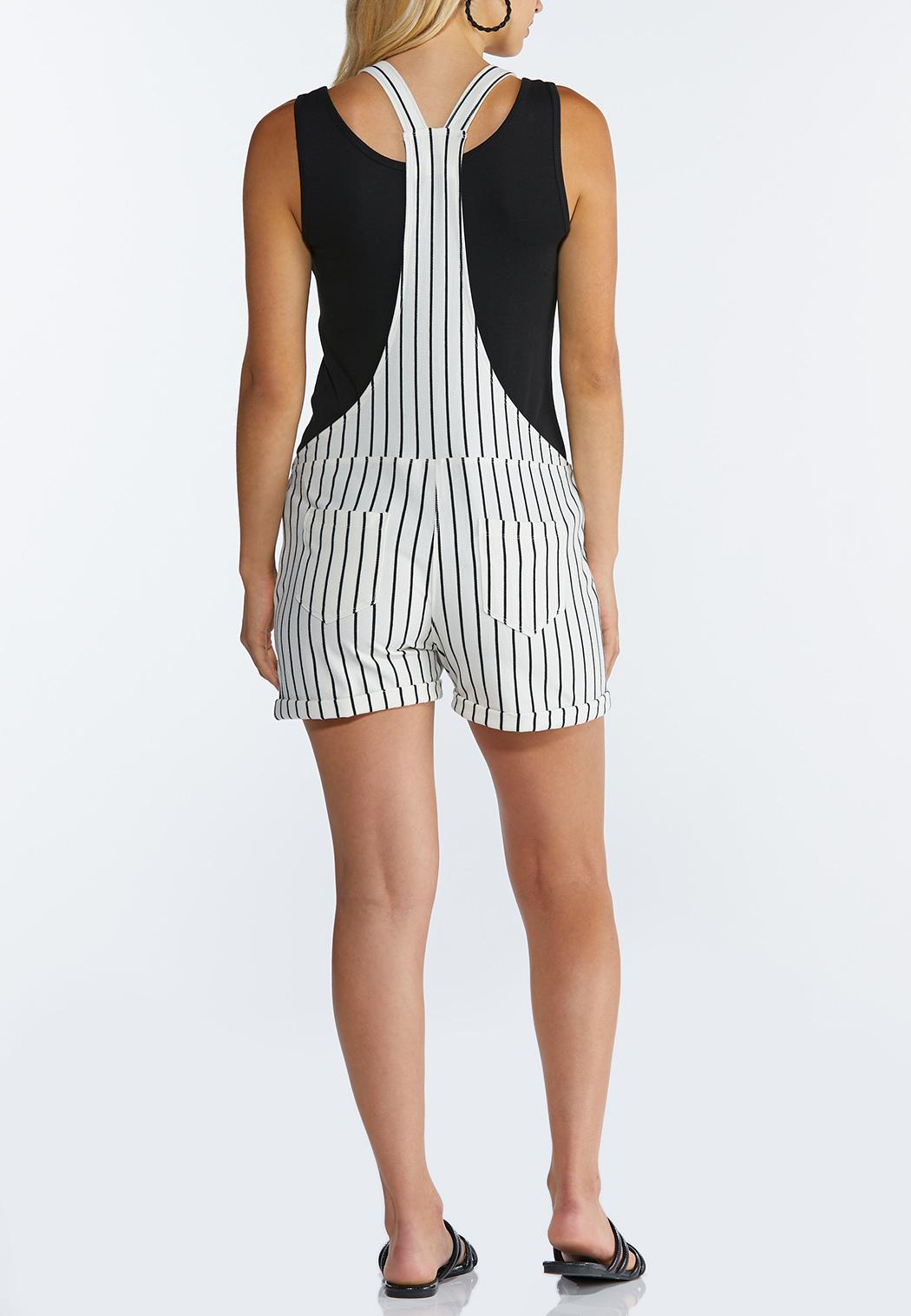 Striped Short Overalls (Item #44223248)