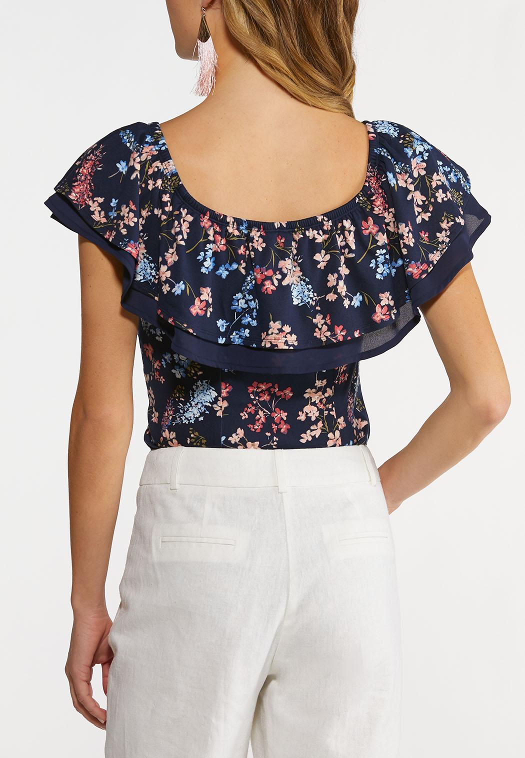 Floral Ruffled Bodysuit (Item #44223484)