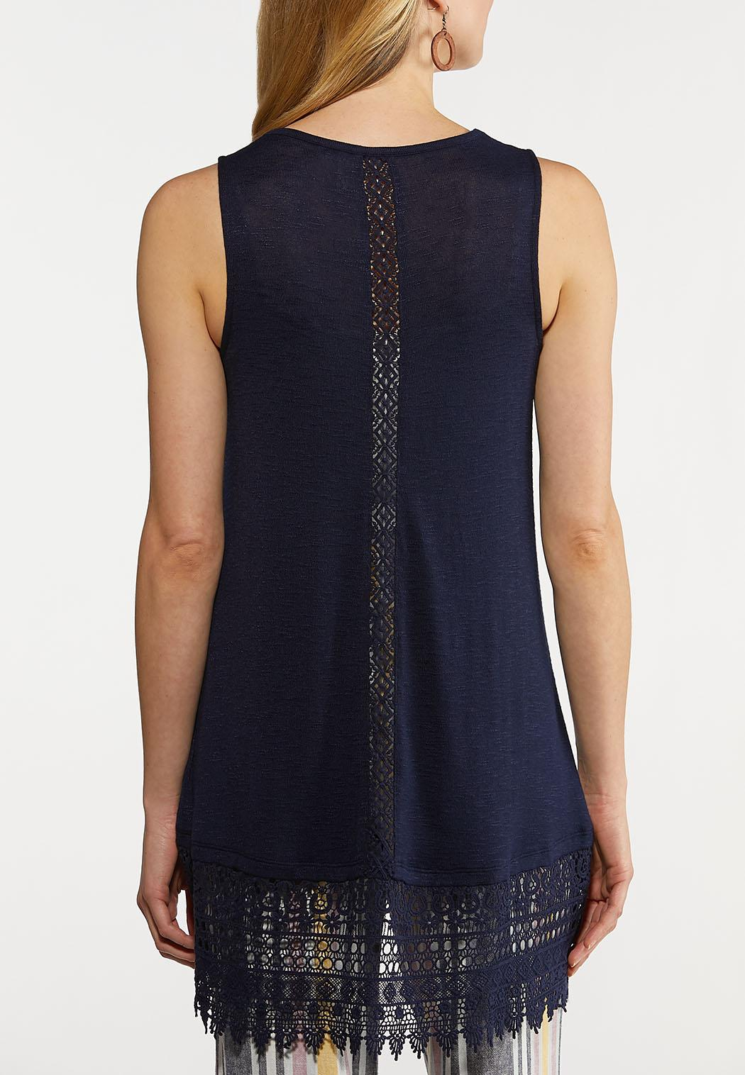 Solid Lace Trim Vest (Item #44223560)