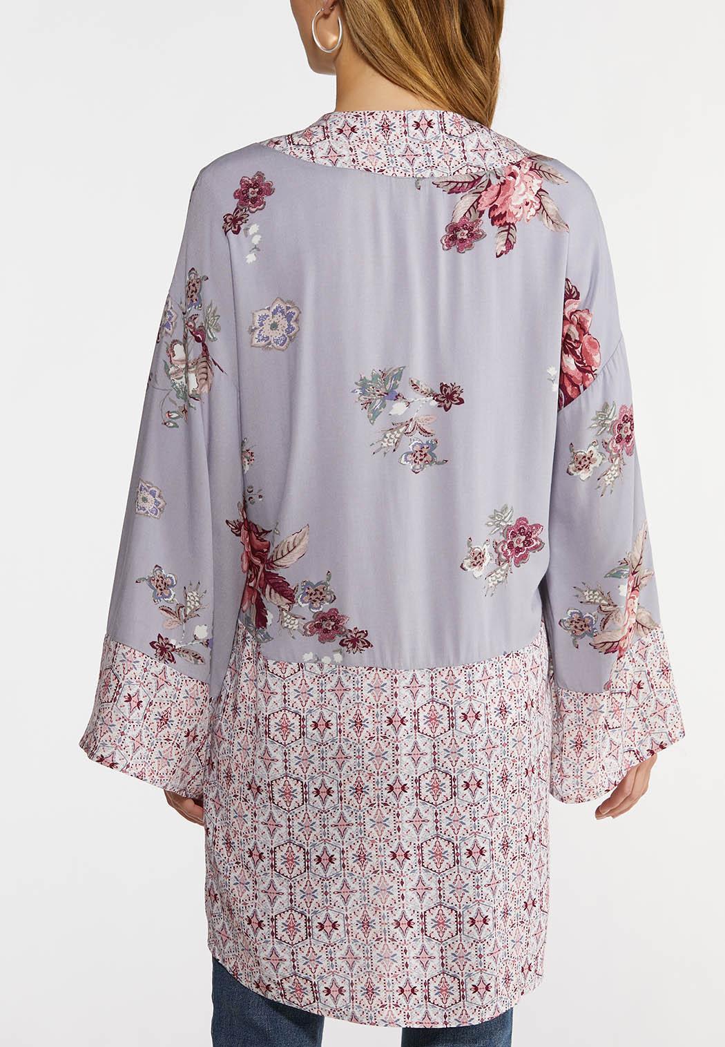 Plus Size Sweet Lavender Kimono (Item #44224981)