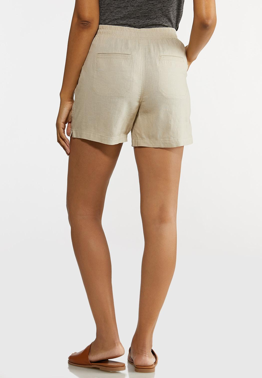 Drawstring Linen Shorts (Item #44225299)