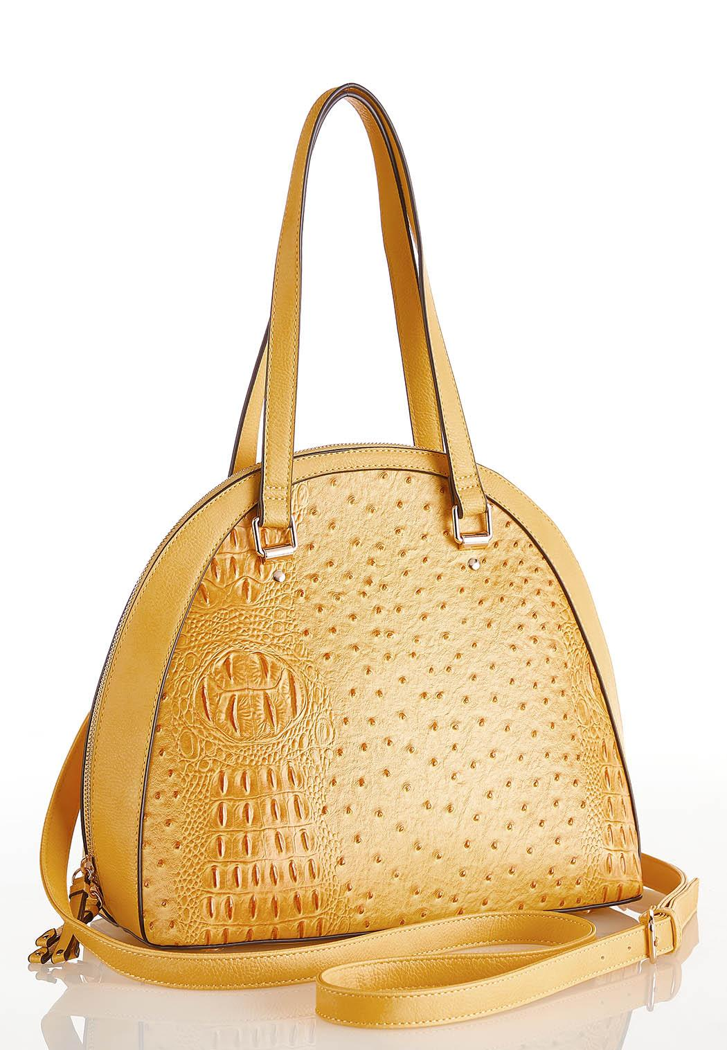 Golden Ostrich Dome Satchel (Item #44226631)