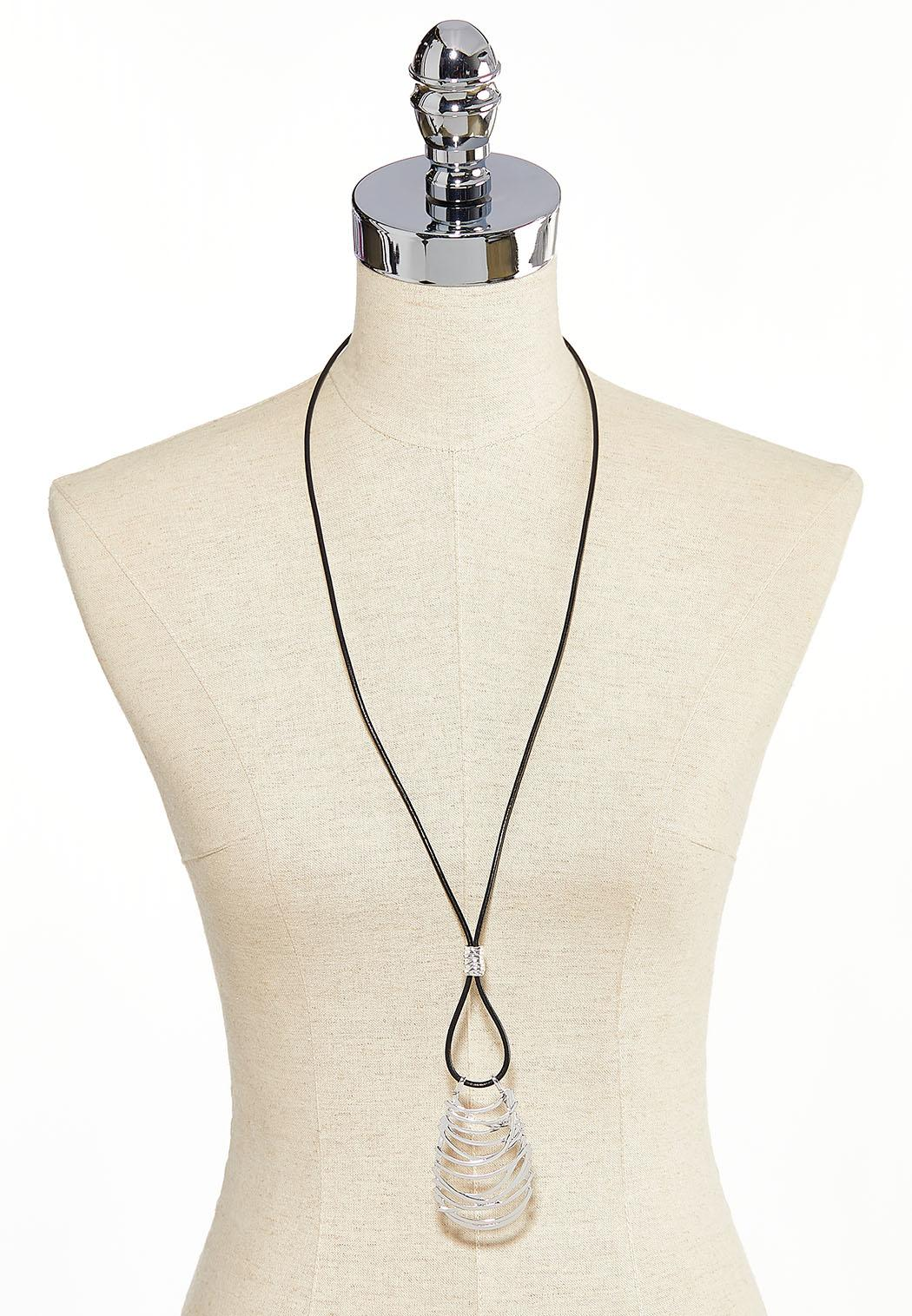 Cutout Pendant Cord Necklace (Item #44226994)