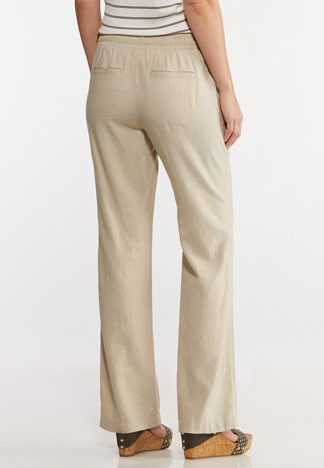 Petite Drawstring Linen Pants (Item #44227155)