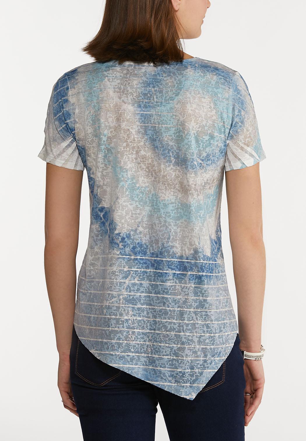 Sky Blue Tie Dye Top (Item #44227924)