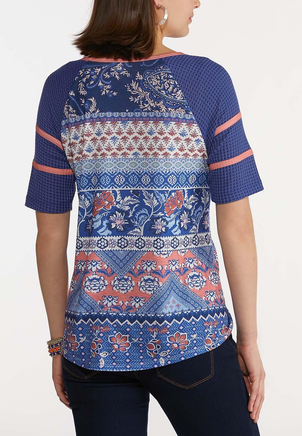Aztec Floral Tie Front Top (Item #44228121)