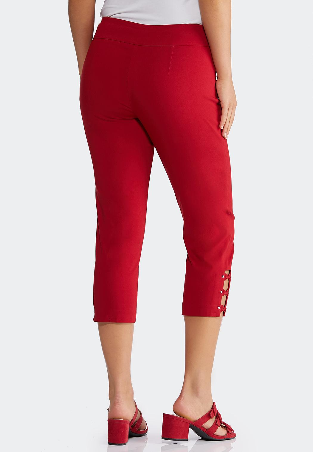 Cropped Red Lattice Pants (Item #44228814)