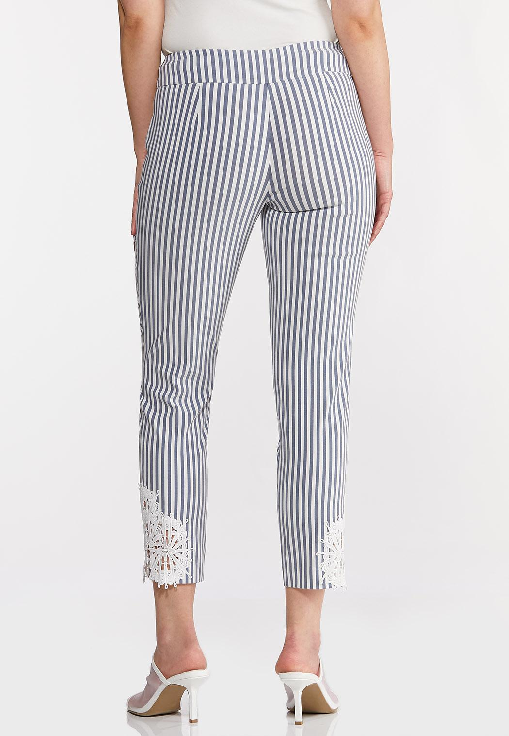 Striped Crochet Hem Pants (Item #44229952)