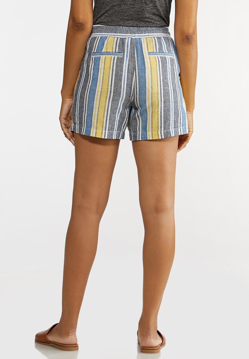 Denim Stripe Linen Shorts (Item #44231953)