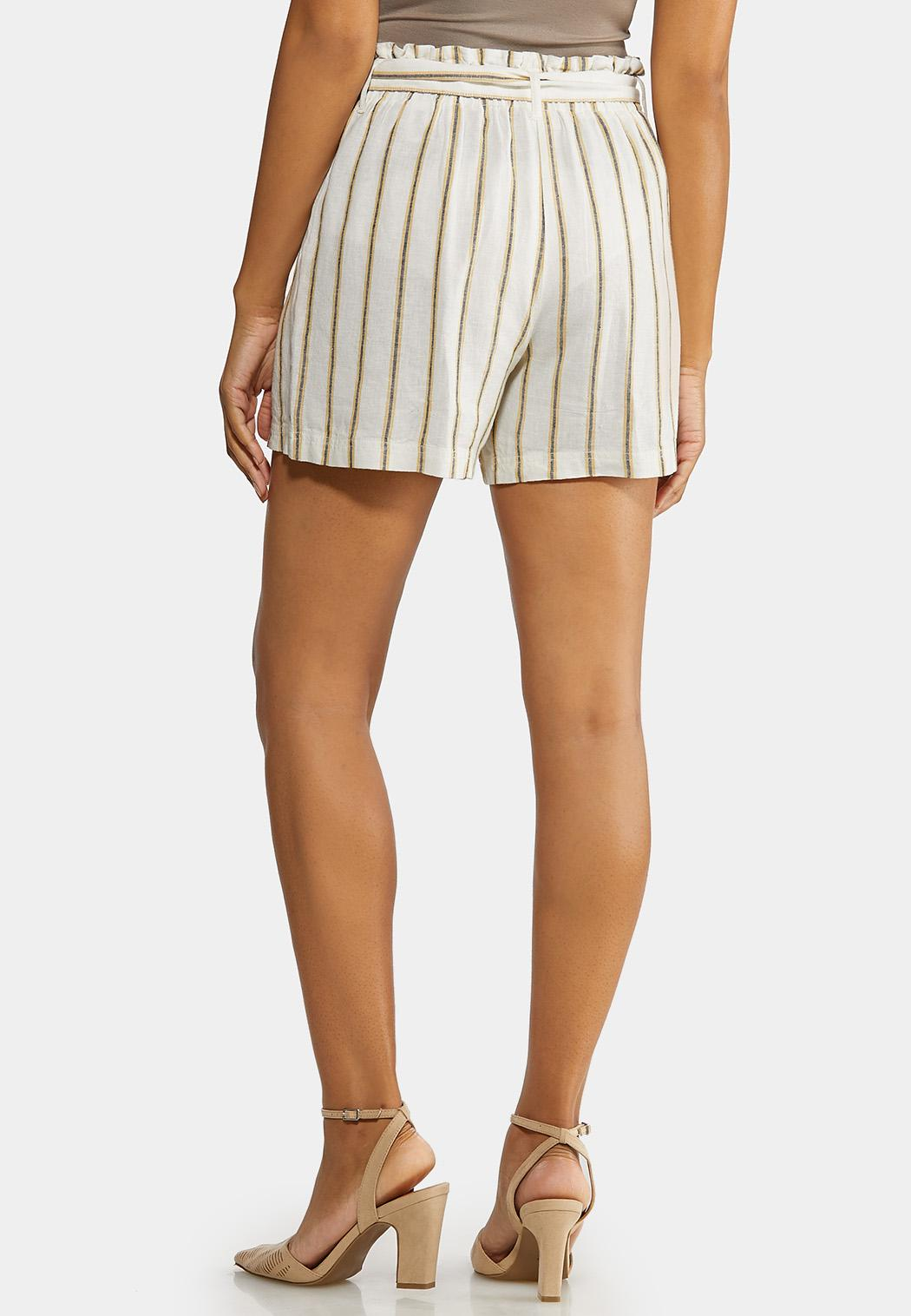Striped Linen Shorts (Item #44232032)