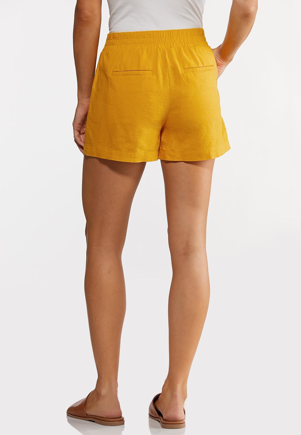 Tie Front Linen Shorts (Item #44232083)