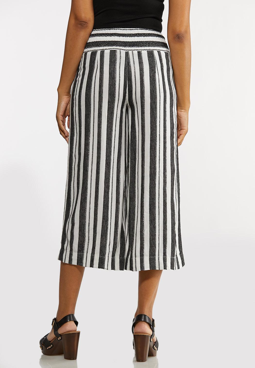 Metallic Stripe Cropped Pants (Item #44232266)