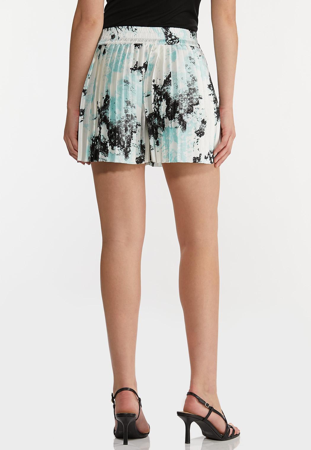 Pleated Tie Dye Shorts (Item #44232527)