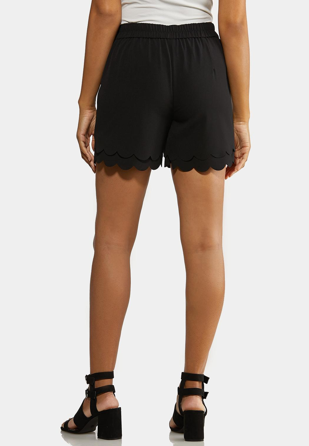 Scalloped Tie Front Shorts (Item #44232544)