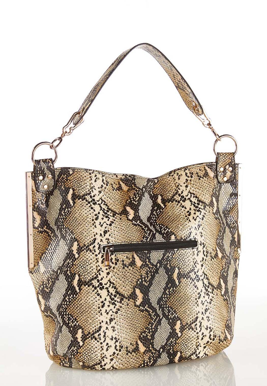 Snakeskin Hobo Handbag (Item #44232558)
