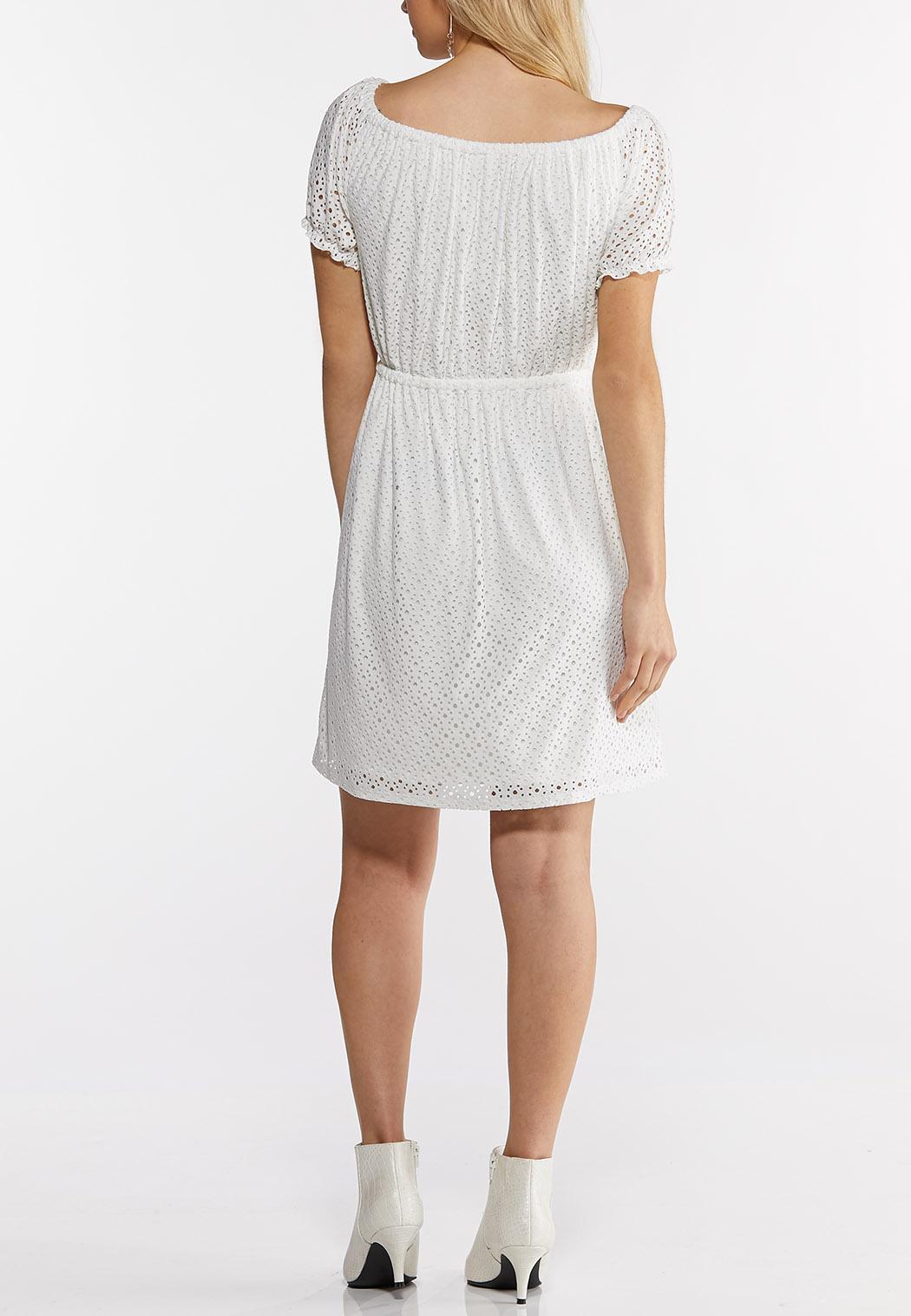 Plus Size Eyelet Tie Waist Dress (Item #44232668)
