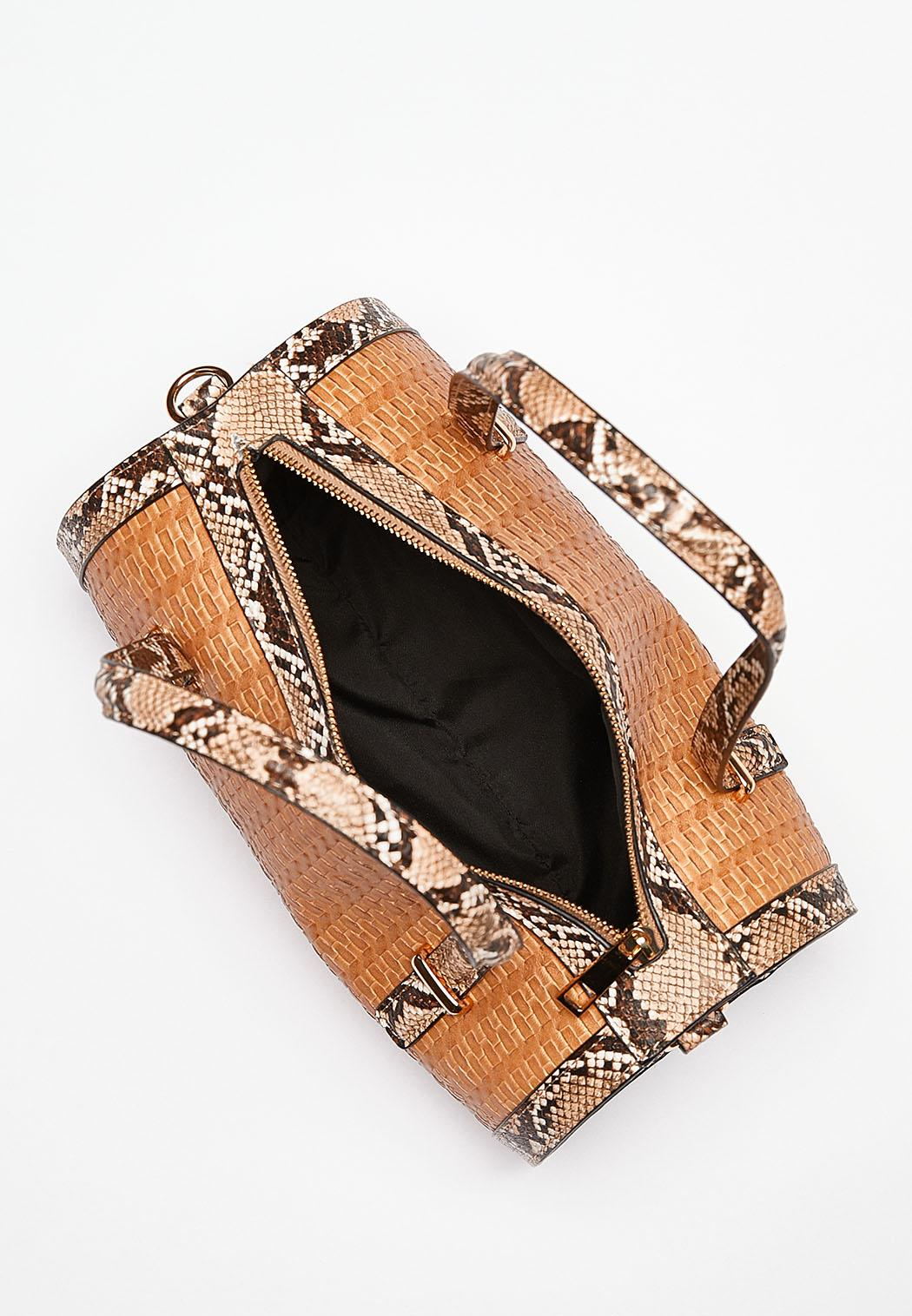 Snake Trim Barrel Handbag (Item #44232765)
