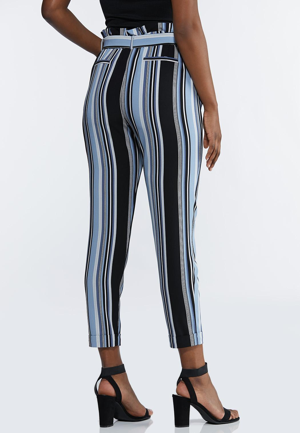Blue Striped Paperbag Pants (Item #44232857)