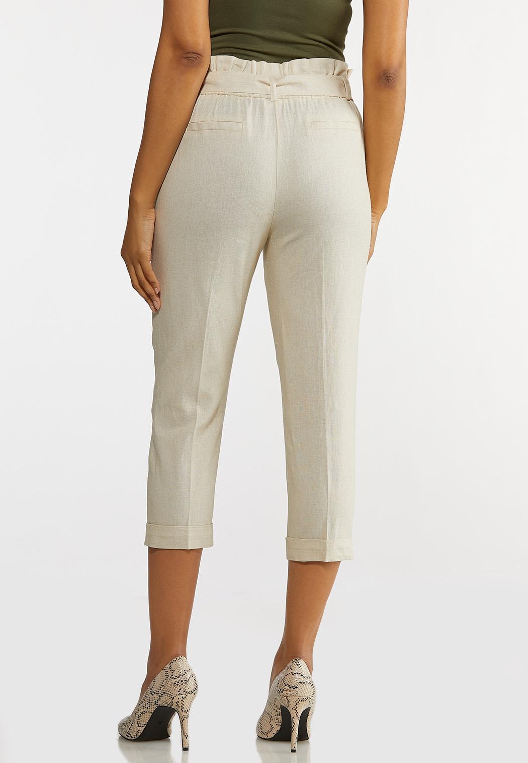 Linen Paperbag Waist Pants (Item #44232984)