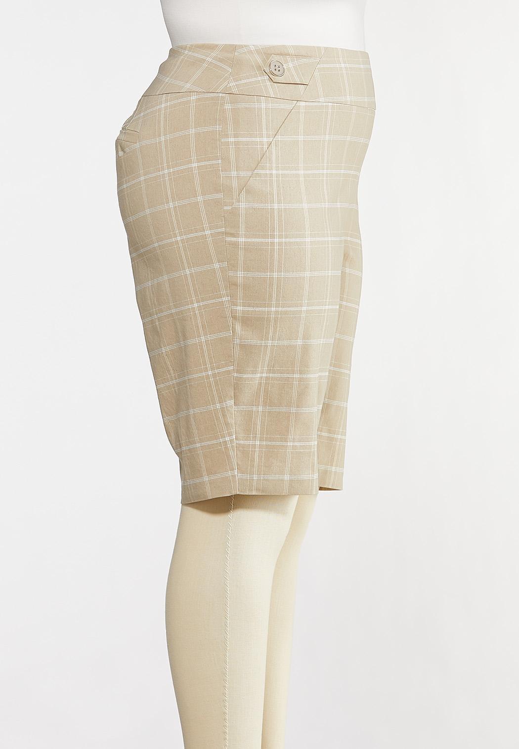 Plus Size Windowpane Bermuda Shorts (Item #44233040)
