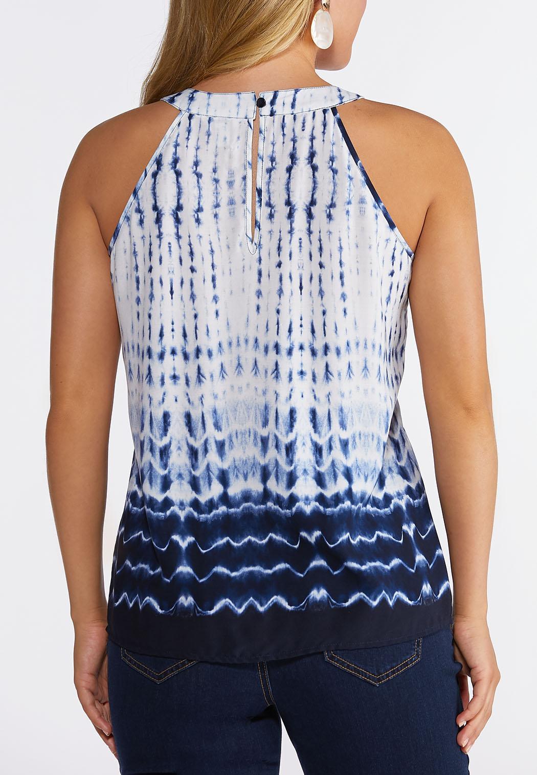 Plus Size Crochet Tie Dye Tank (Item #44233115)