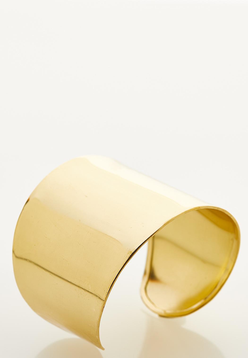 Gold Metal Statement Cuff Bracelet (Item #44233435)
