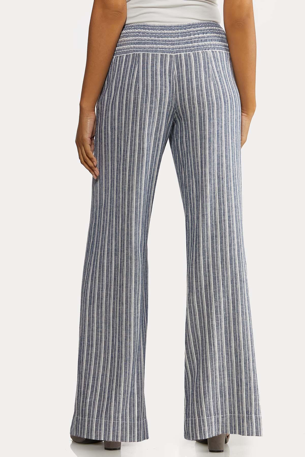 Blue Stripe Linen Pants (Item #44233478)