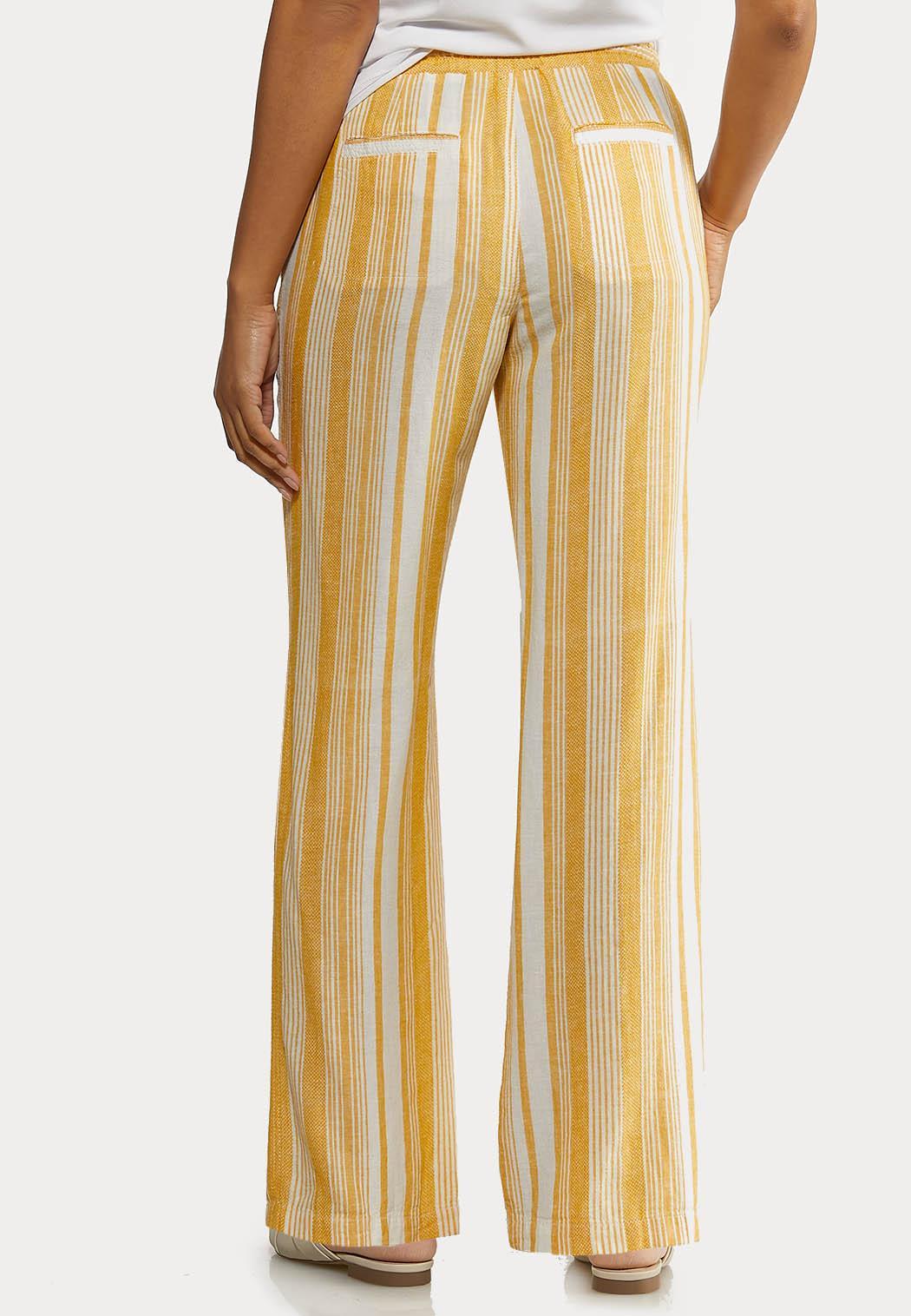 Gold Stripe Linen Pants (Item #44233656)