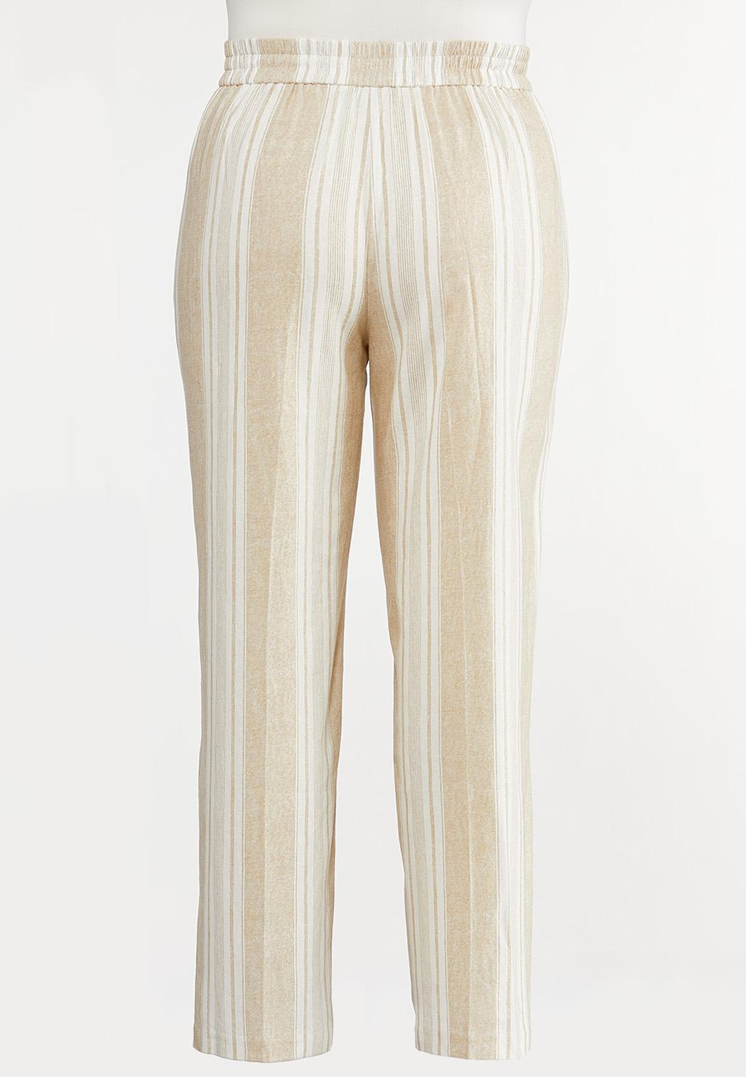 Plus Size Sailor Button Linen Pants (Item #44233921)