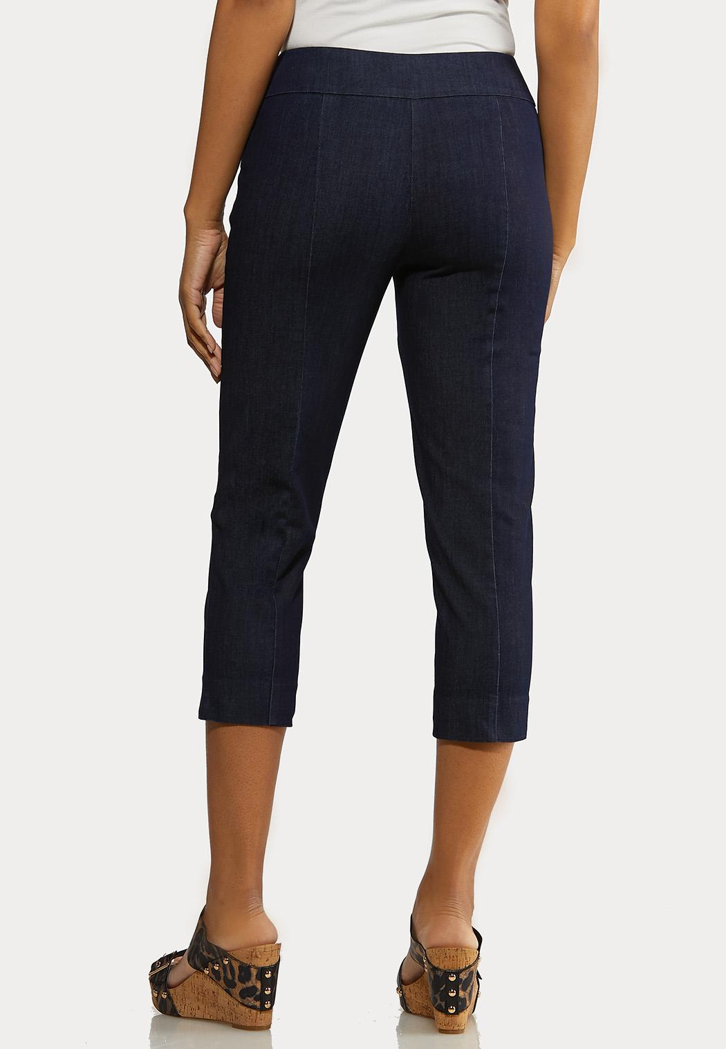 Cropped Denim Pants (Item #44234026)