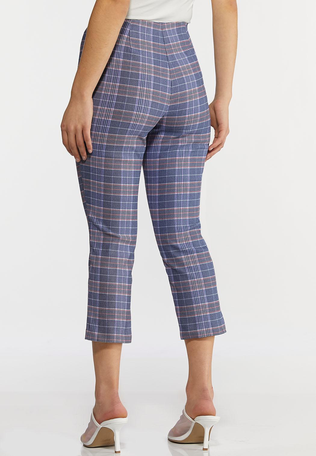 Blue Plaid Bengaline Pants (Item #44234247)