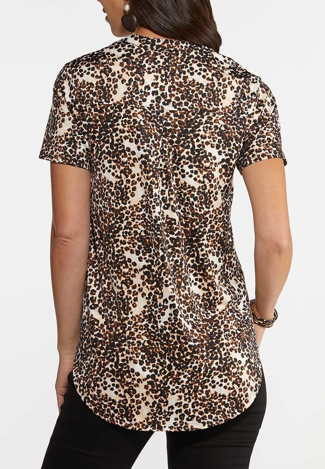 Plus Size Cheetah Print Top (Item #44238769)