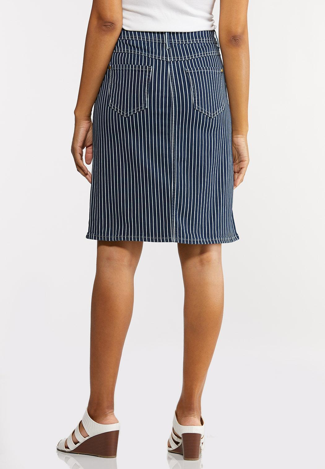 Striped Denim Skirt (Item #44238930)