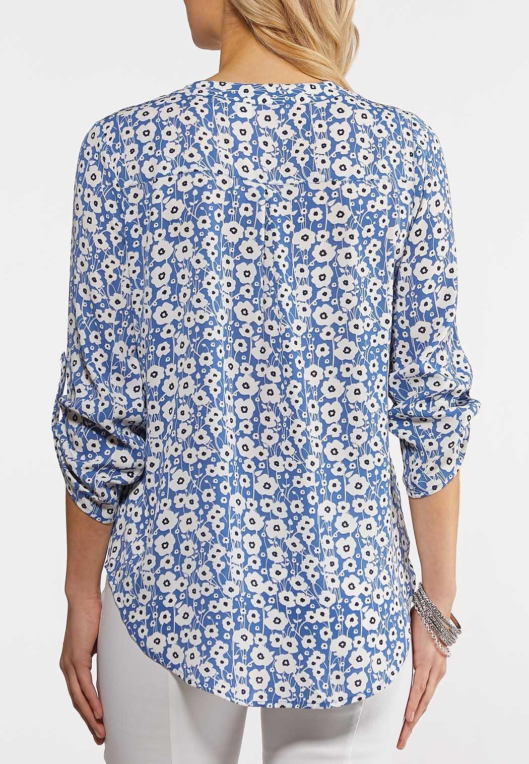 Ditsy Blue Floral Top (Item #44239026)