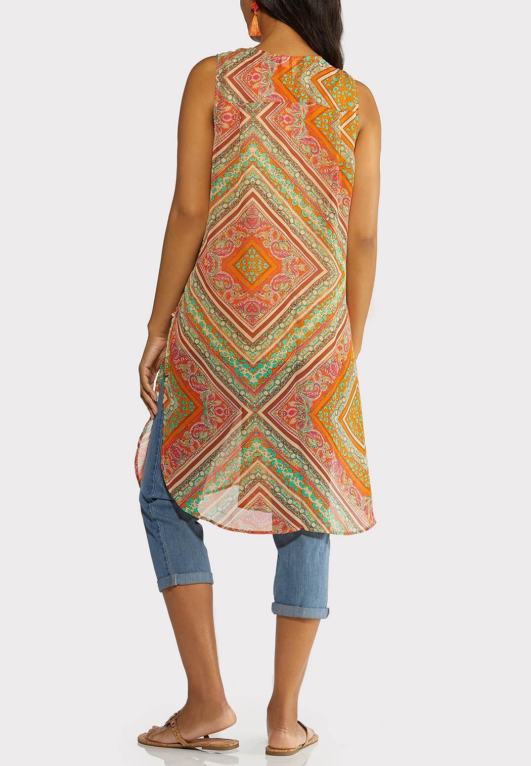 Summer Sheer Print Vest (Item #44239229)