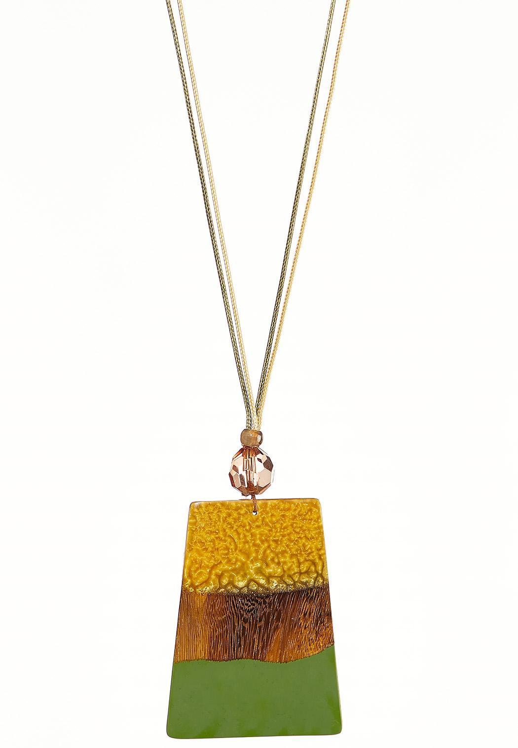 Oversized Wood Pendant Necklace (Item #44239321)