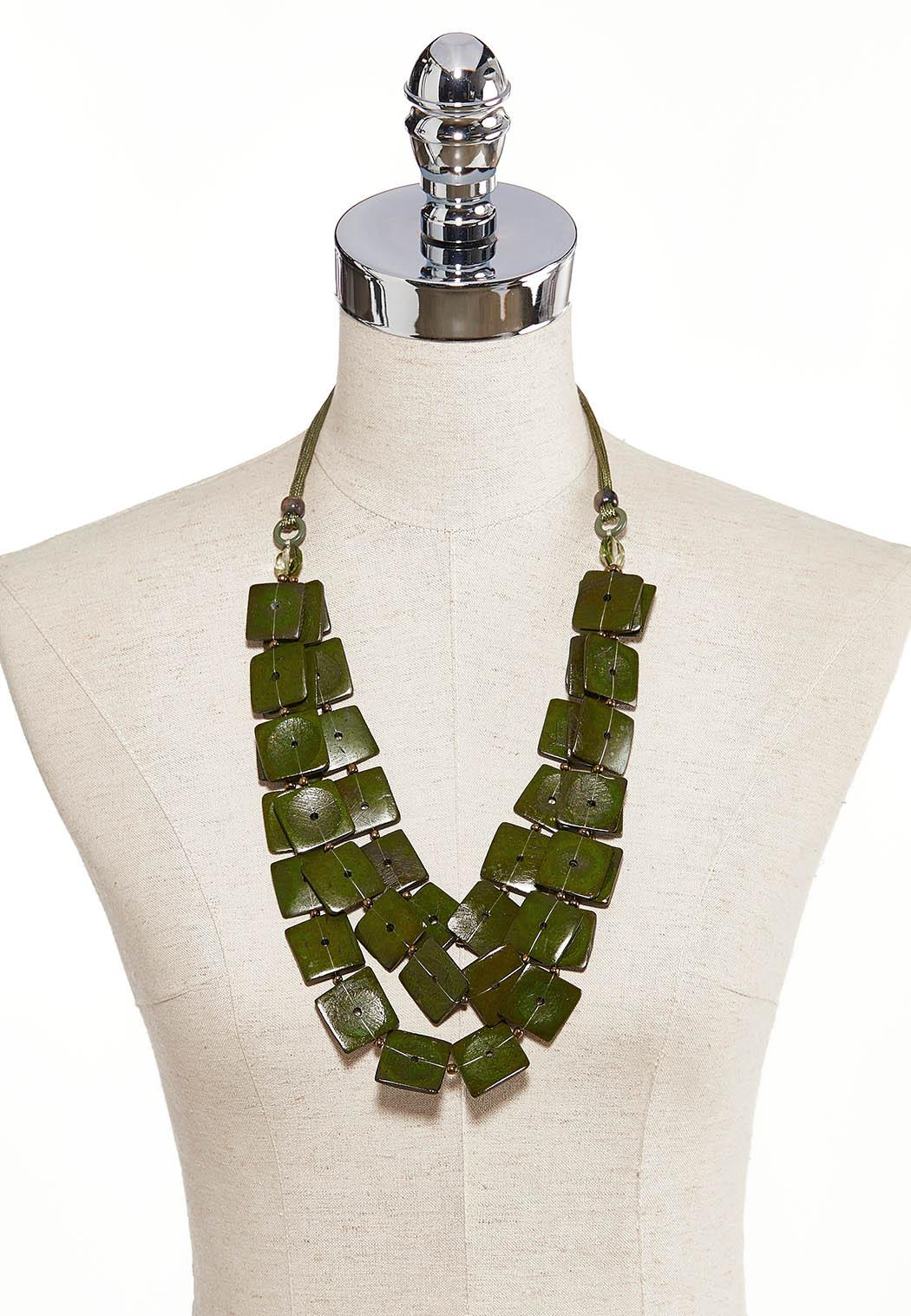 Square Disc Layered Necklace (Item #44239330)