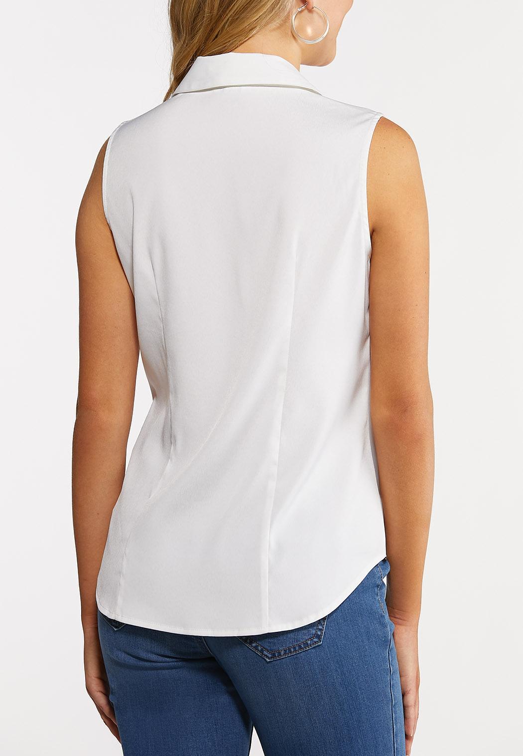 Button Down Sleeveless Shirt (Item #44240221)