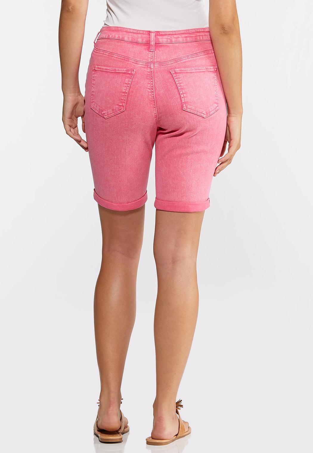 Pink Denim Bermuda Shorts (Item #44240386)