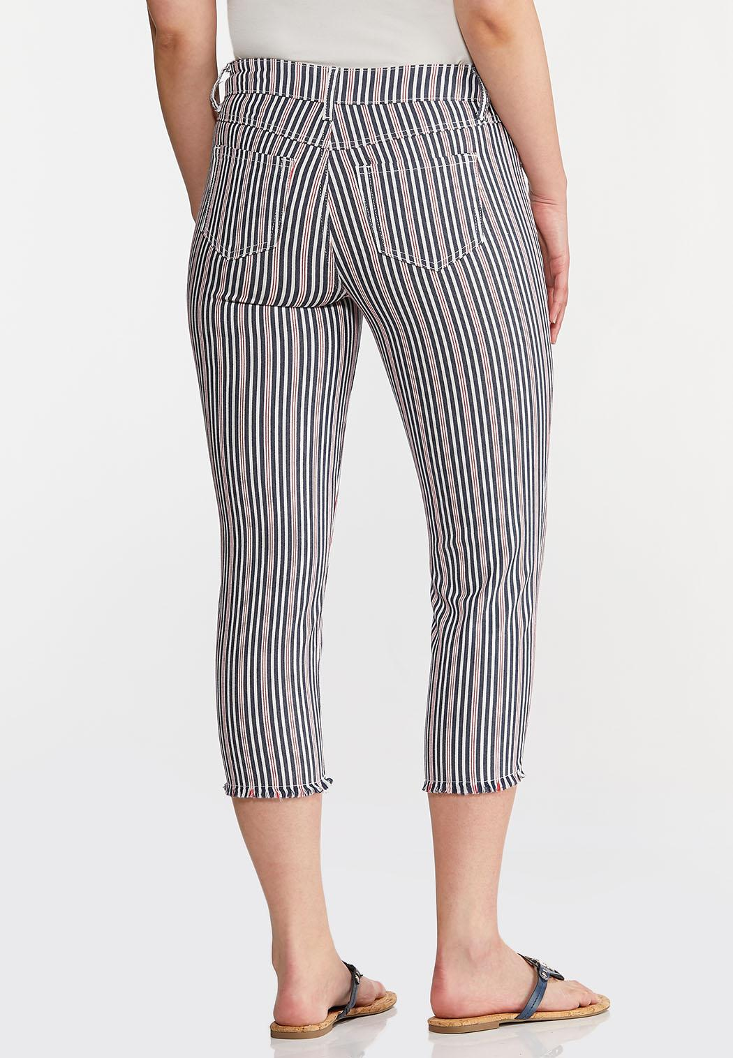 Cropped Striped Jeans (Item #44240464)
