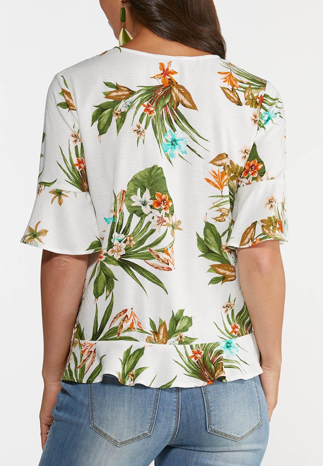 Plus Size Paradise Palm Top (Item #44241367)