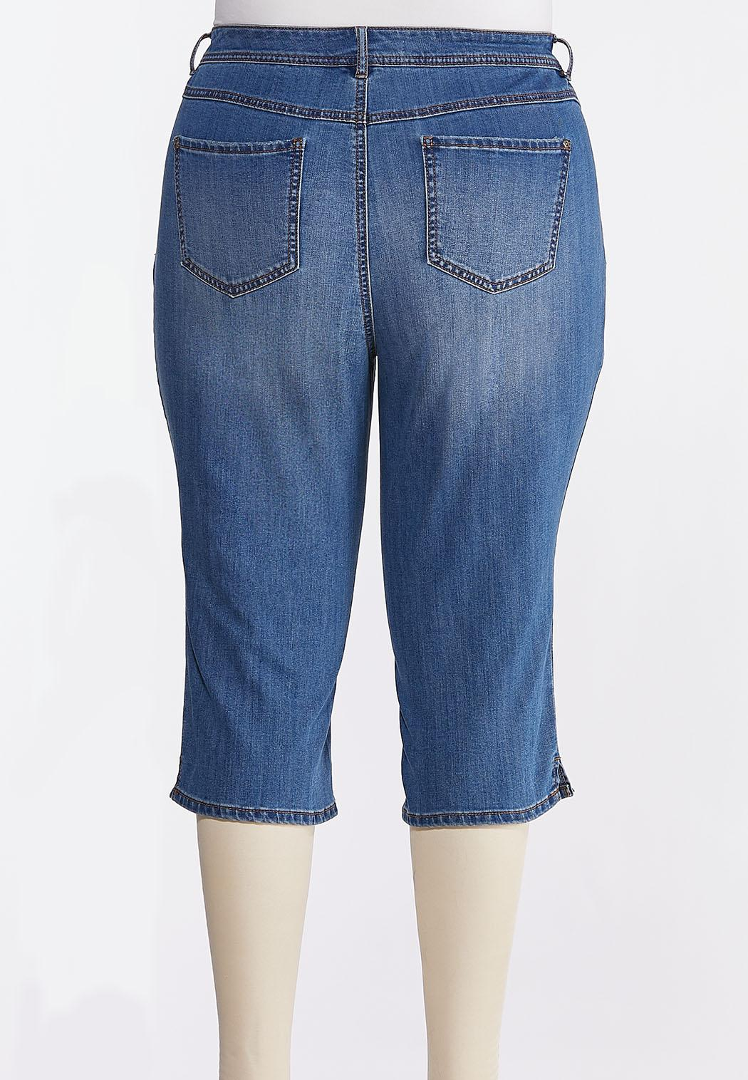 Plus Size Cropped Skinny Jeans (Item #44241972)