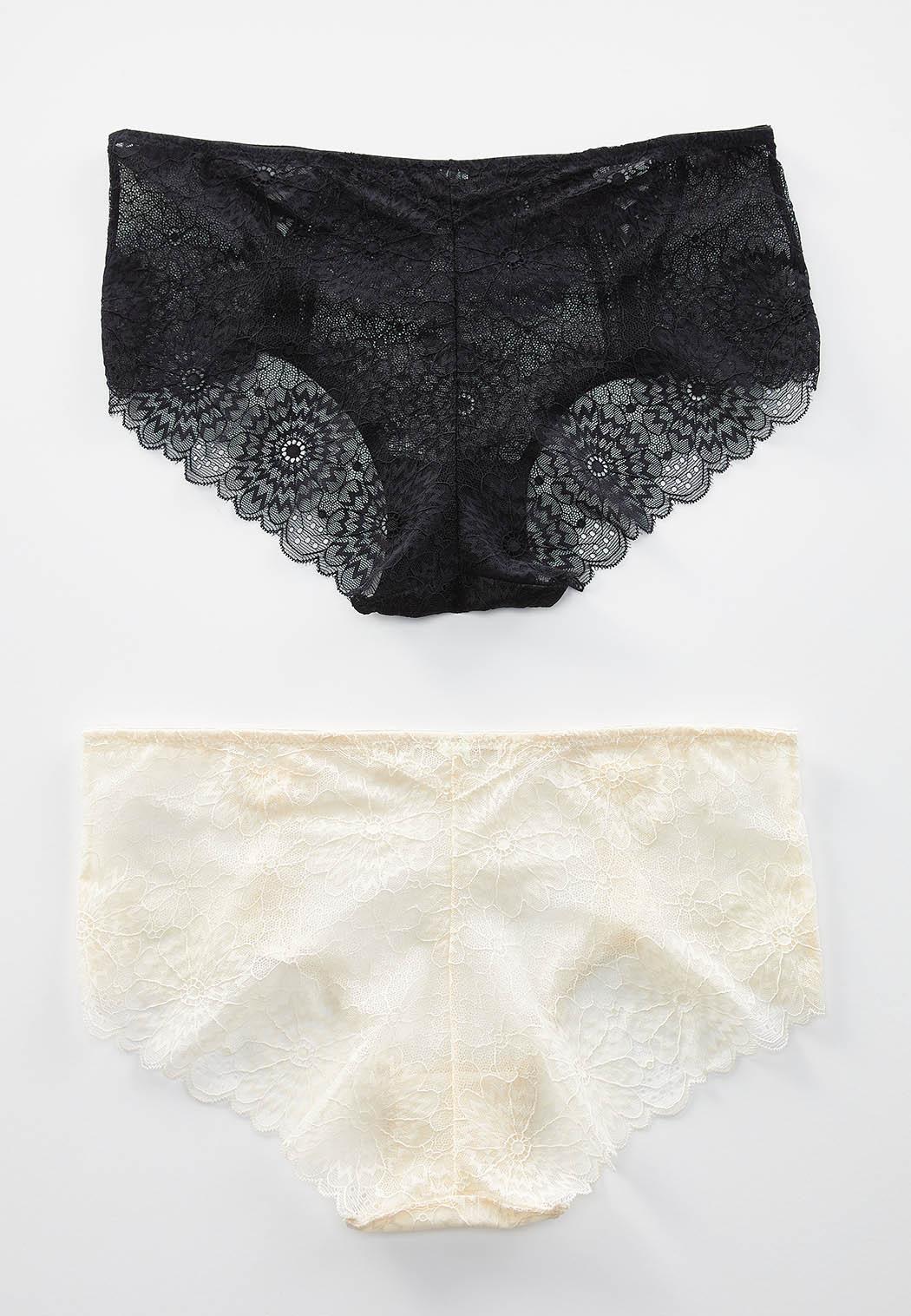 Plus Size Floral Lace Hipster Panty Set (Item #44242261)