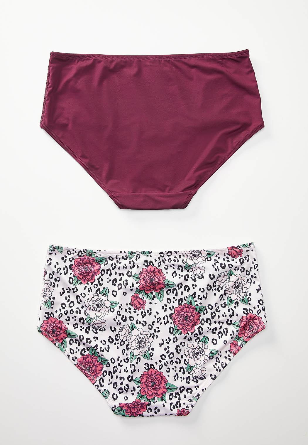 Plus Size Floral Animal Panty Set (Item #44242325)